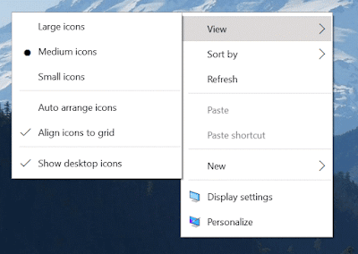 context menu in windows 10