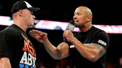 the rock habla mal de la mamá de john cena en raw