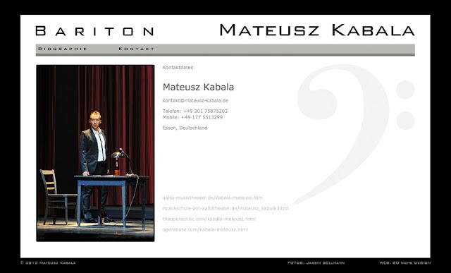 Mateusz Kabala - Bariton Website - Contact