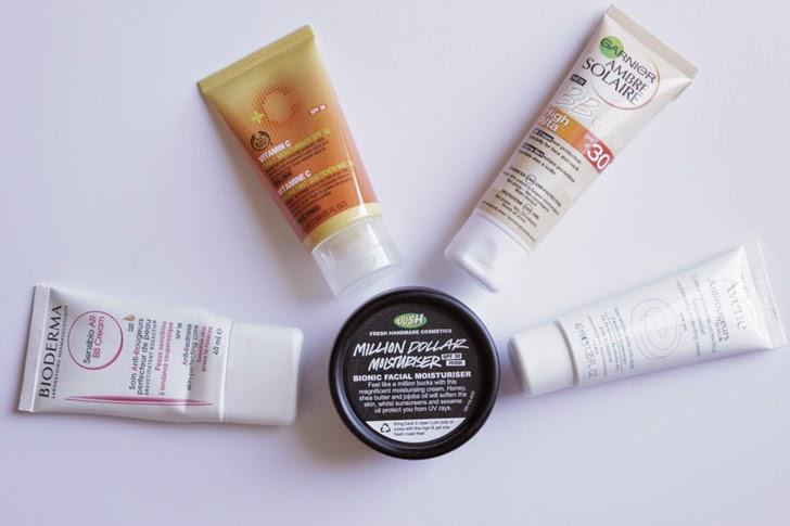 Hidratantes de rosto com protecção solar