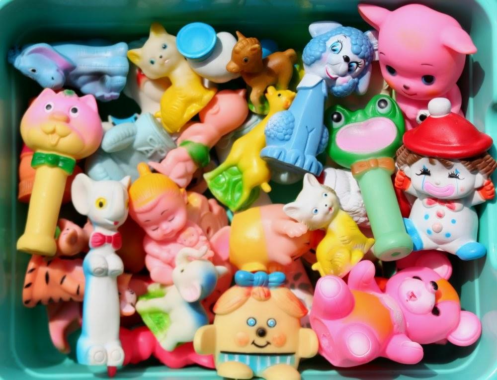 Retrokitsch: Cute Rubber Squeaky Toys
