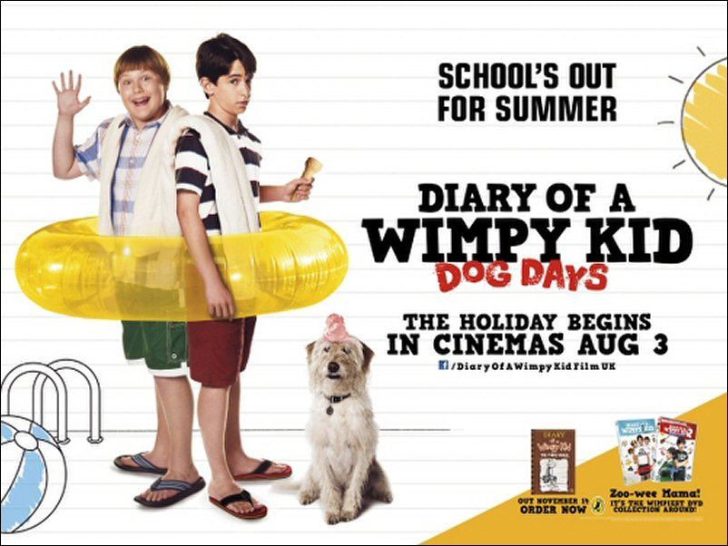 diary of a wimpy kid dog days Greg heffley's summer vacation disintegrates into one misadventure after  another, including a disastrous attempt to start a lawn-mowing business watch  trailers.