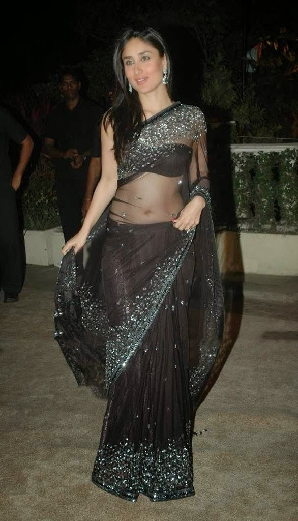 kareena kapoor hot navel hd wallpapers in transparent saree