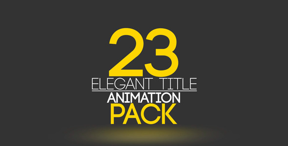VideoHive 23 Elegant Title Animation