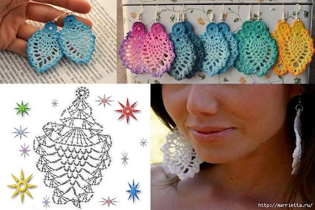 ergahandmade     Crochet       Earrings        Diagram