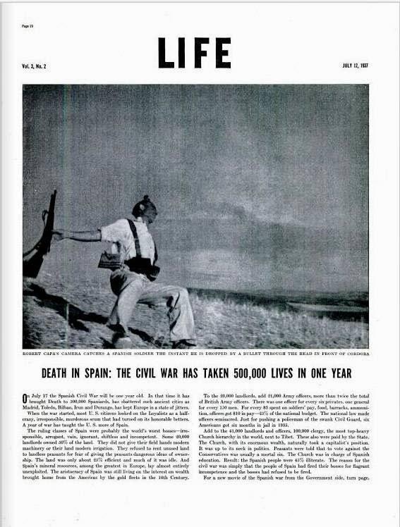 Robert Capa's image in Life magazine