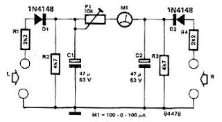 stereo balance indicator circuit