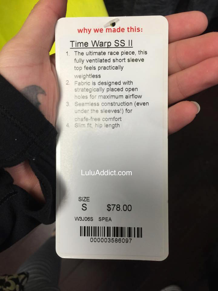 lululemon time warp ss
