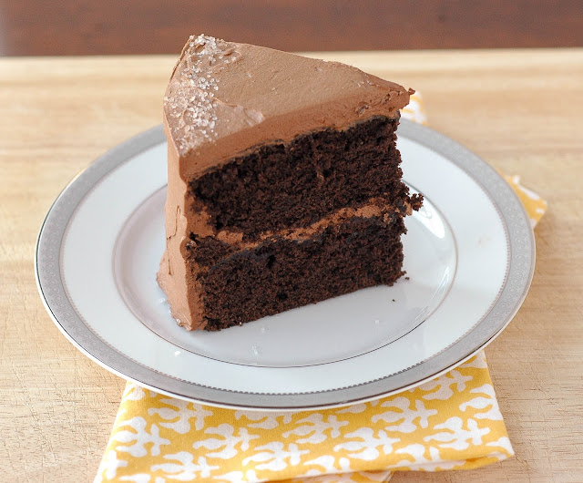 ... Sweet & Salty Chocolate Cake with Whipped Caramel-Chocolate Frosting