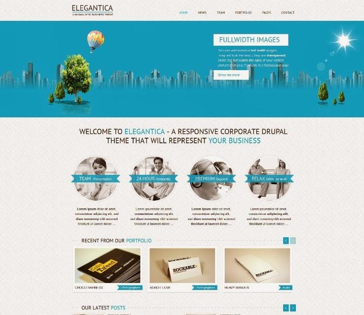 Elegantica - Responsive Business Drupal Theme