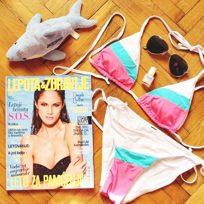 Jelena Zivanovic Instagram @lelazivanovic.Glam fab week.Lepota i Zdravlje casopis leto 2015.Best Instagram flatlays.