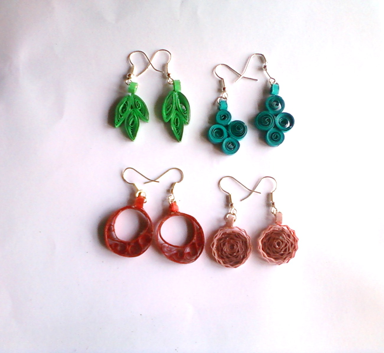 Quilling Papers Earrings: CRAFT WORLD: Quilled Jewellery