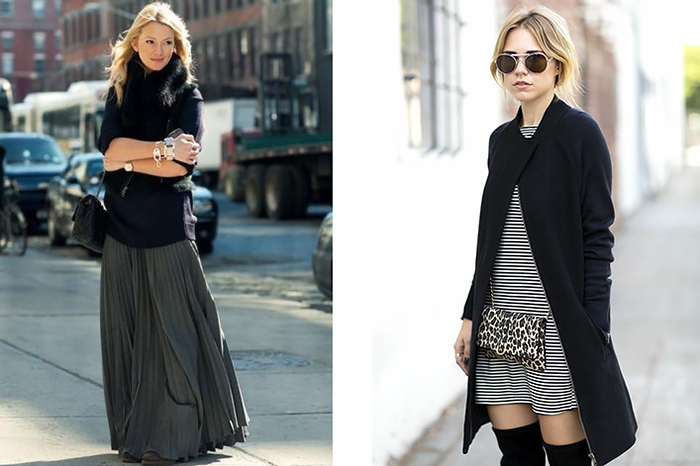 fall fashion inspiration, maxi skirt, stipes