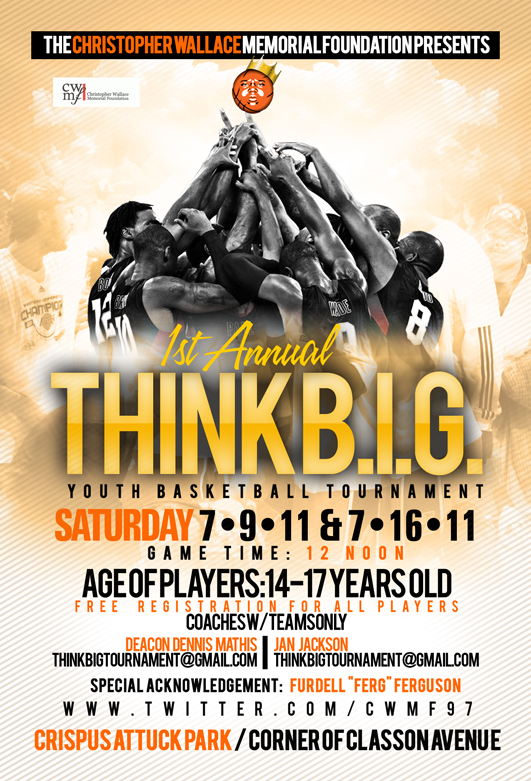 christopher wallace memorial foundation think b i g youth