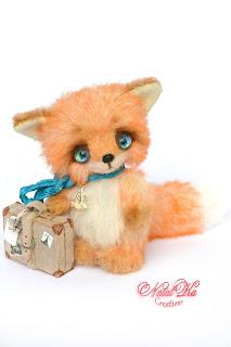 Artist teddy fox, artist fox, fox jointed, ooak, Künstlerfuchs, Künstlerteddy, авторский лисенок тедди, NatalKa Creations