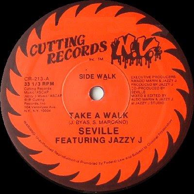 Seville Featuring Jazzy J ‎– Take A Walk (1987, VLS, 320)