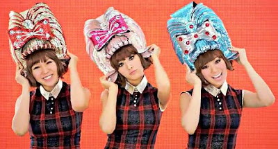 Orange Caramel sparkly wig hats
