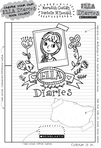 A day out with ella diaries for Ella coloring pages