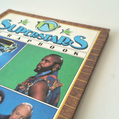 Vintage 80's book with Mr. T - TV Superstars Scrapbook