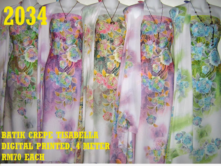 CTD 2034: BATIK CREPE TISSABELLA DIGITAL PRINTED, EXCLUSIVE DESIGN, 4 METER