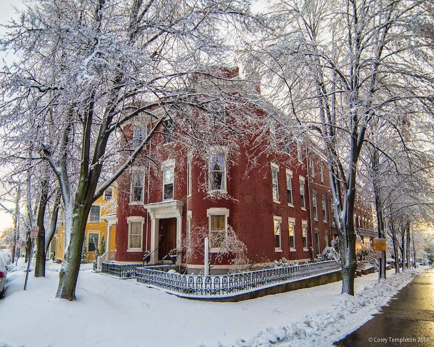 Portland, Maine November 2014 Winter Park and Pleasant Street in snow photo by Corey Templeton