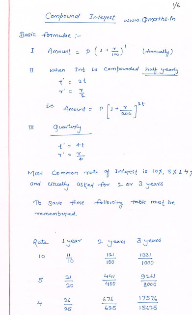 Compound Interest SSC CGl Ibps Bank PO