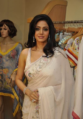 Sridevi Kapoor Hot in Transparent Saree Pictures