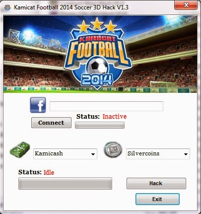 Kamicat Football Soccer 3d - Hack Pack v1.1  main screen