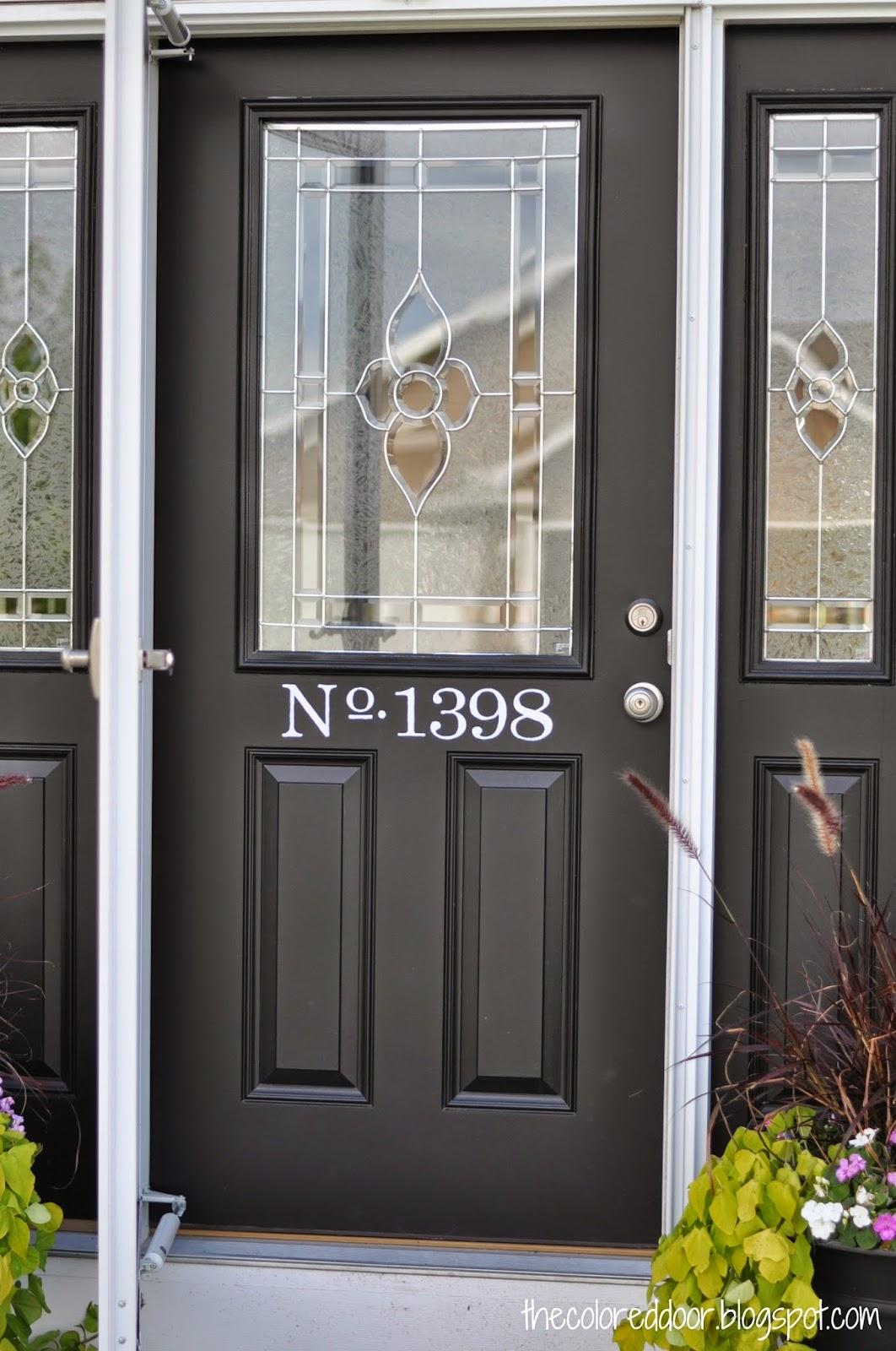 Painted address on door \ the colored door