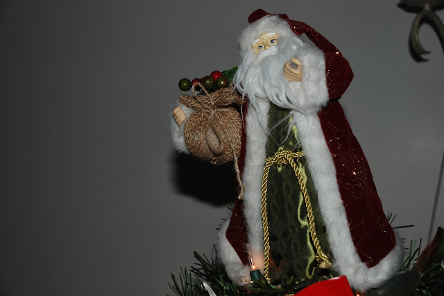 image of a Santa tree topper