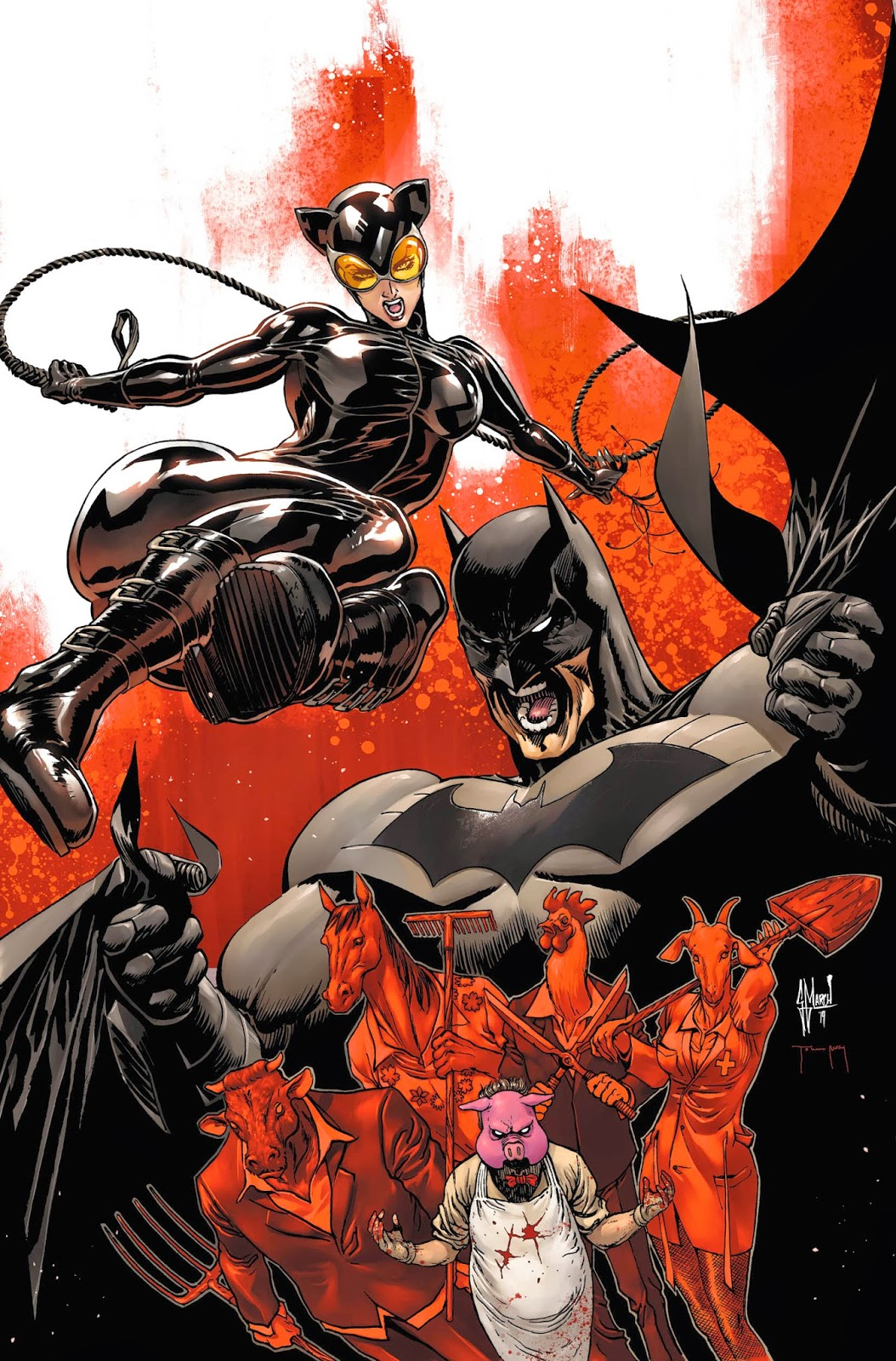 Making of a cover: BATMAN ETERNAL 10 by Guillem March