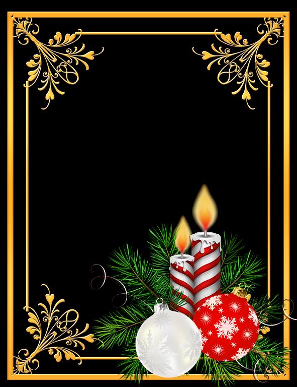 Bordes de fotos navide os de distintos modelos marcos - Dibujos de postales de navidad ...