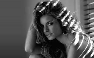 Marisa miller black and white photo