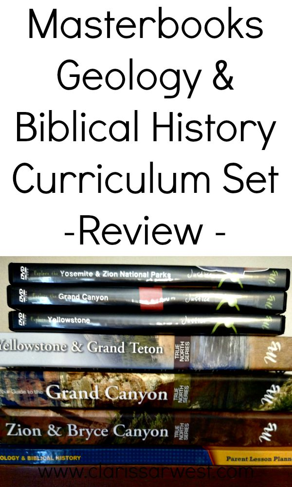 in depth review of Masterbooks Geology & Biblical History curriculum set