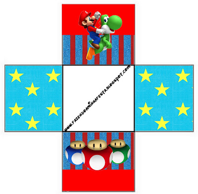Super Mario Bros Free Printable Party Boxes.