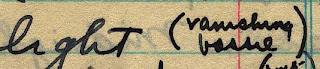 Woolfolk's handwriting: 'vanishing b___'