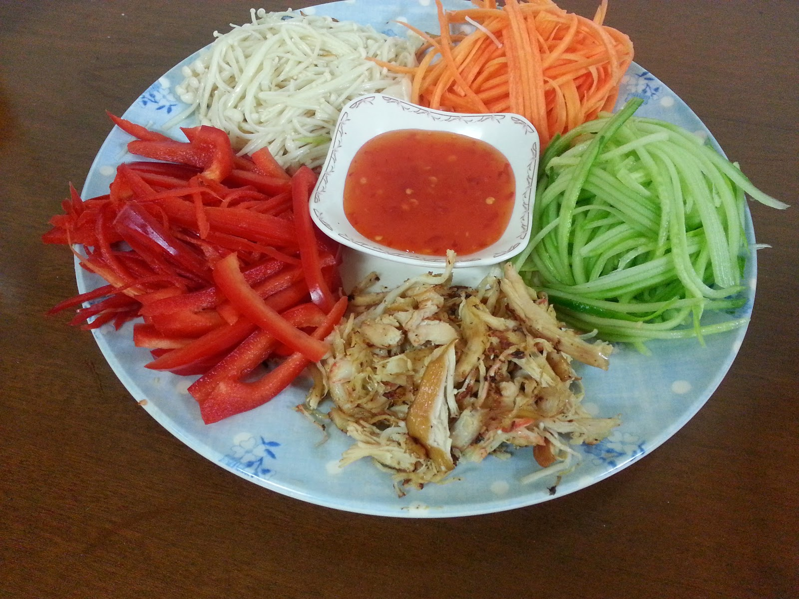 how to make vermicelli rice paper rolls