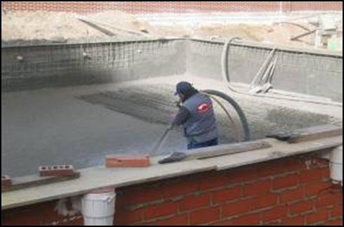 Arquitecto nave industrial madrid 91 616 06 61 for Hormigon gunitado piscinas
