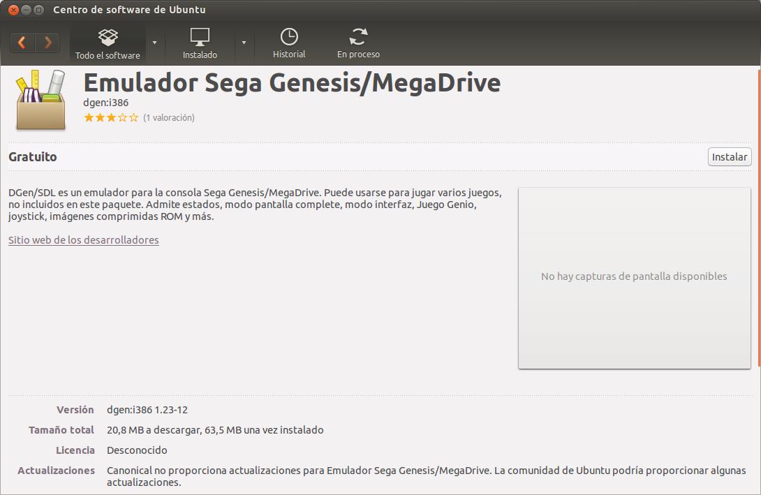 Instalar emulador de Sega MegaDrive en Ubuntu, emulador de sega en ubuntu, jugar a los juegos de sega en el ordenador