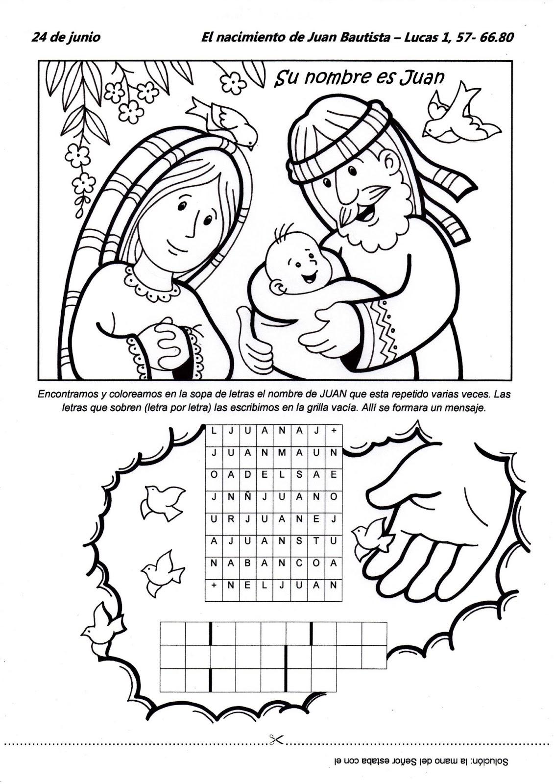 El Rincón de las Melli: El Nacimiento de Juan Bautista