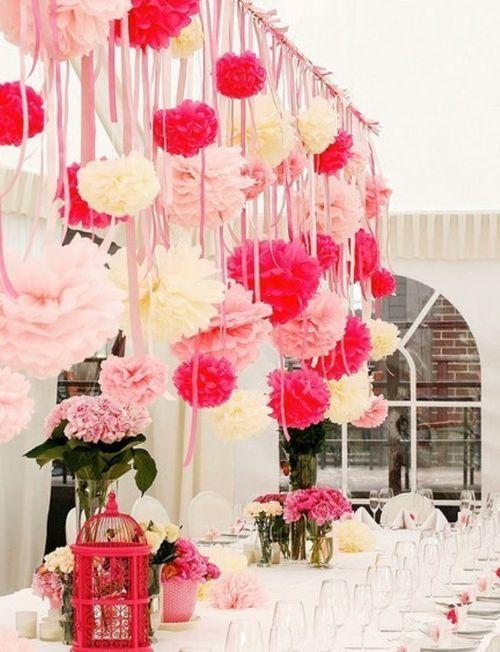 Paper pom poms | The Hanging Lantern Company