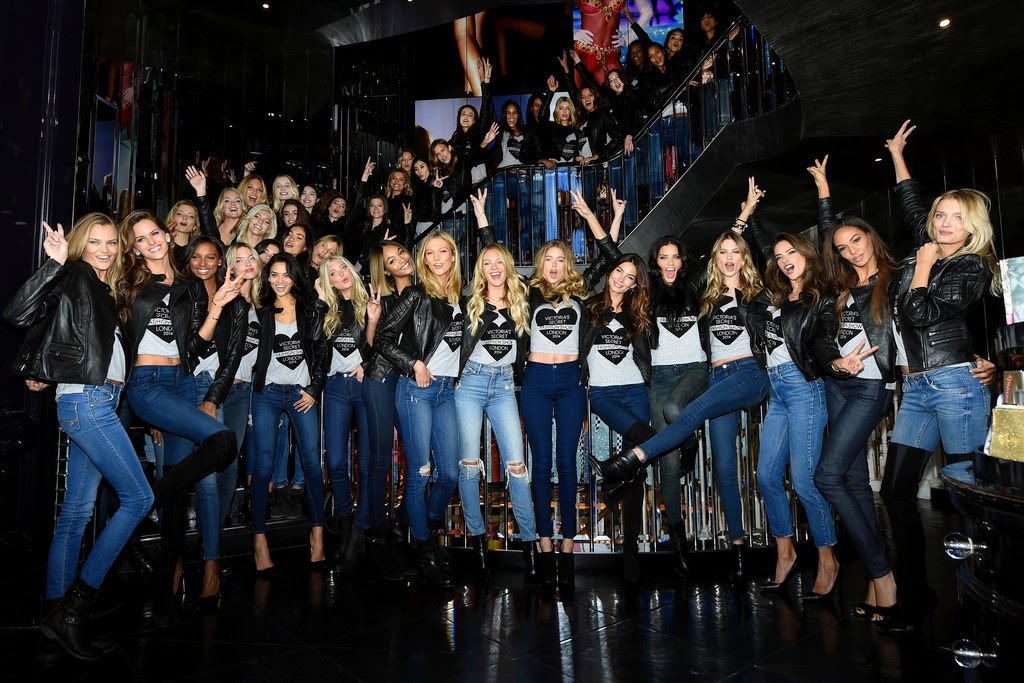 Candice Swanepoel, Joan Smalls, Doutzen Kroes, Lily Aldridge, Behati Prinsloo and others at 2014 Victoria's Secret Fashion Show – Bond Street Media Event in London
