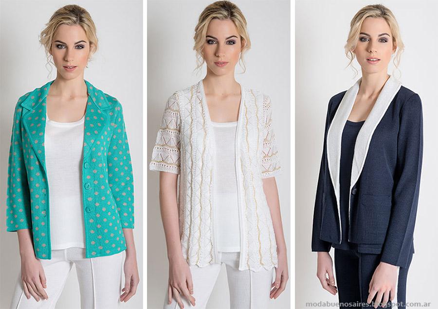 Tejidos 2015. Moda tejidos primavera verano 2015 sacos, sweaters y remeras de mujer.