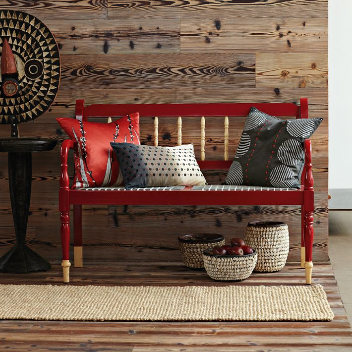 Red Foyer Bench : New home design ideas theme romantic red