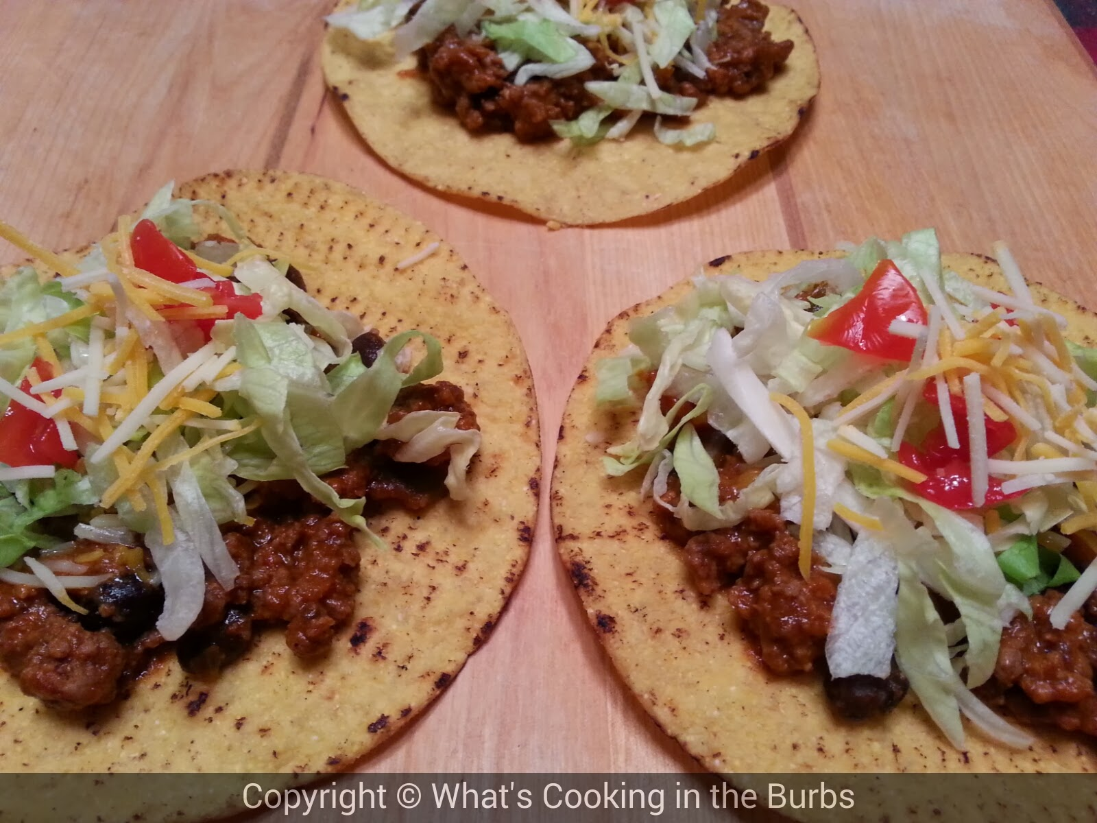 What's Cooking in the Burbs: Cheesy Beef Tostadas