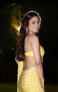 Aksha Pradhan looks very cute in a backless choli and yellow saree wow