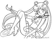 Gambar Mewarnai Sailormoon Gratis