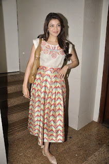 Actress Kajal Agarwal Latest Pictures at Felicitate Chidren NGO Alert India 14