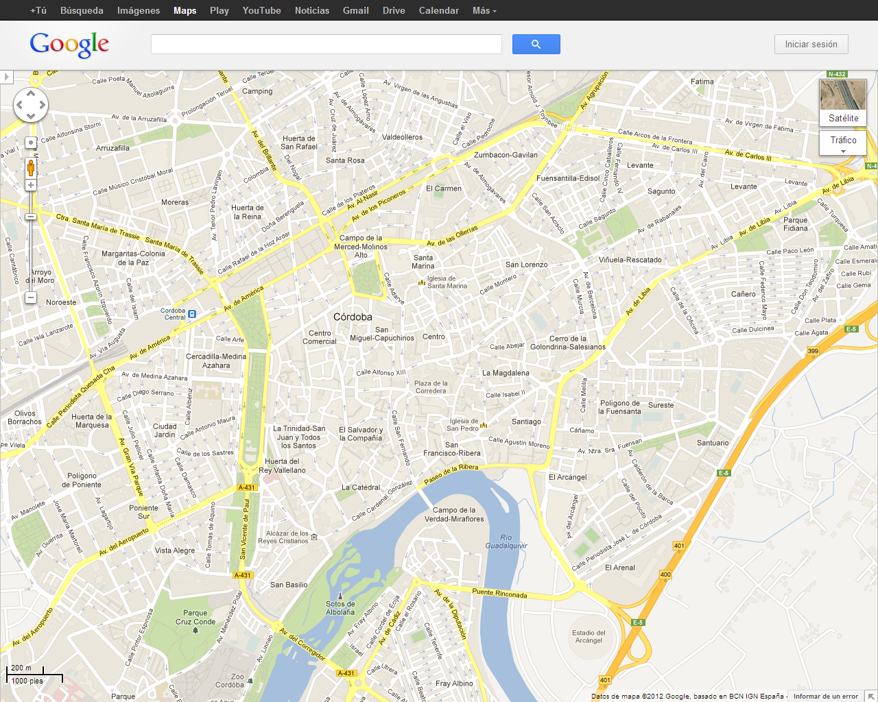 Resultado de imagen de imagenes de google maps y GPS de cordoba