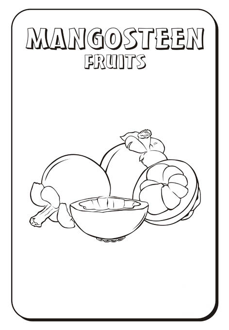 Free Mangosteen Coloring Pages Pictures title=
